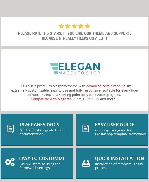 Elegan - Fashion Responsive Magento Theme