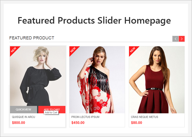 featured - Allure Responsive Magento Theme
