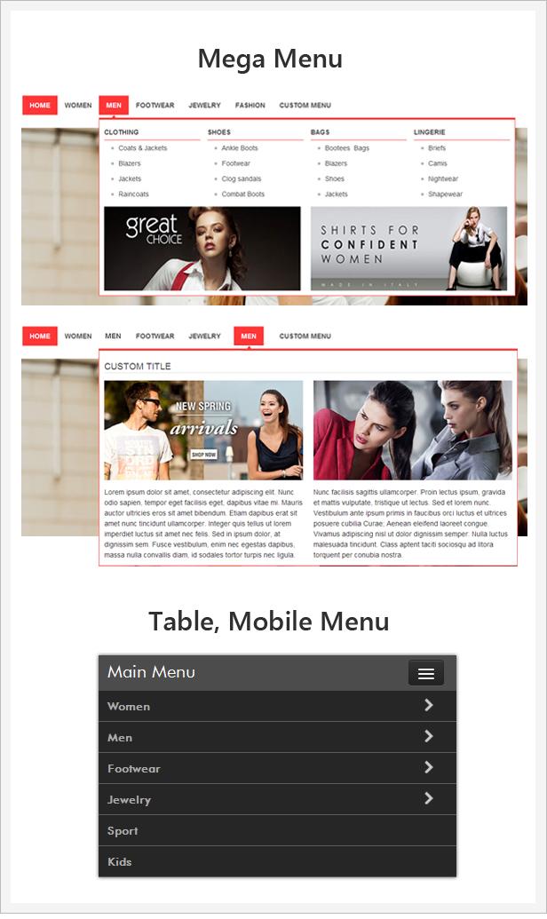 menu - Allure Responsive Magento Theme