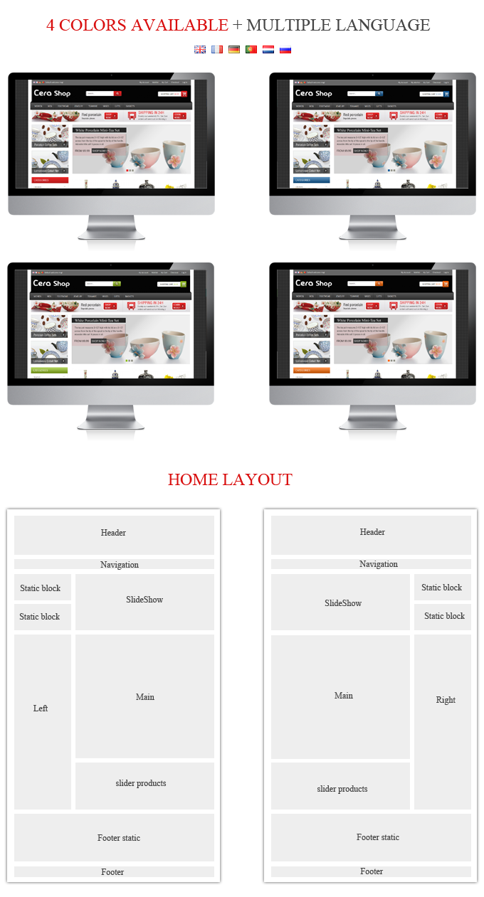 layout - CeraShop Responsive Magento Theme