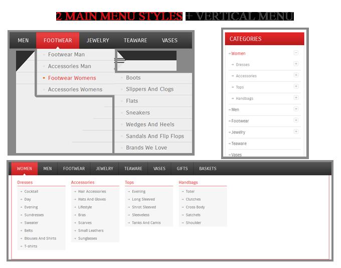 menu - CeraShop Responsive Magento Theme
