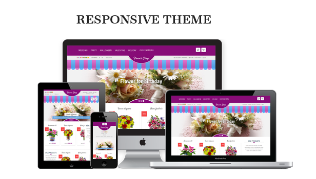 responsive - Flower Responsive Magento Theme