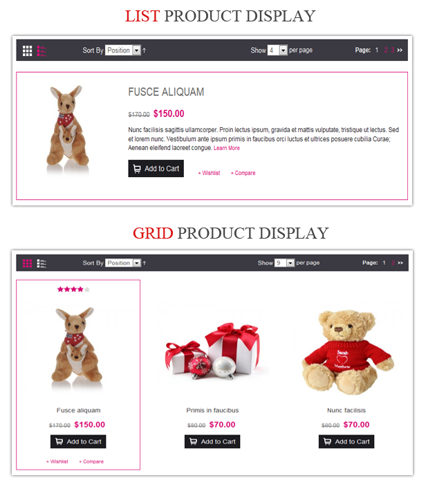 grid list - Gift Store Responsive Magento Theme