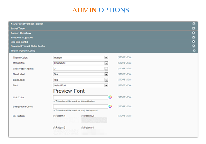 admin - MetroFas Responsive Magento Theme