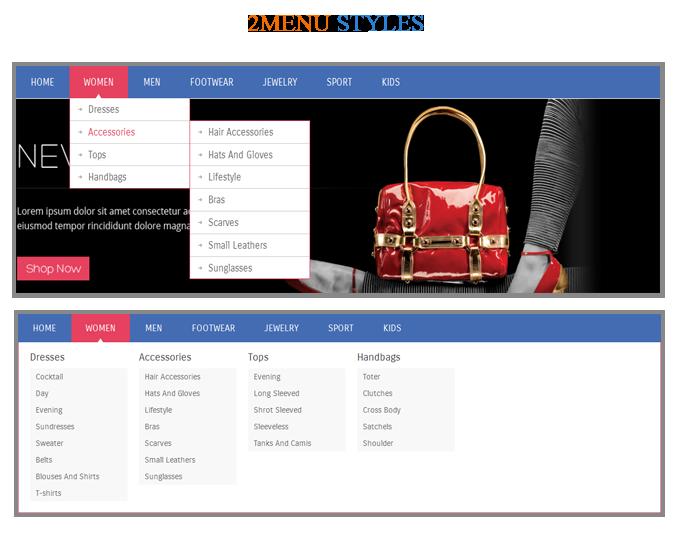menu - MetroFas Responsive Magento Theme